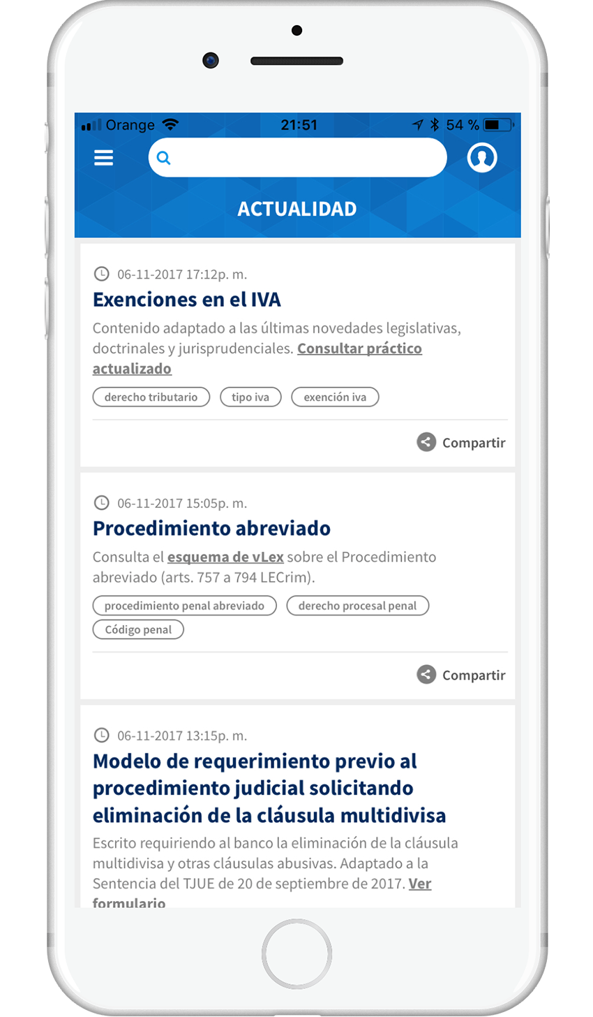vLex Mobile